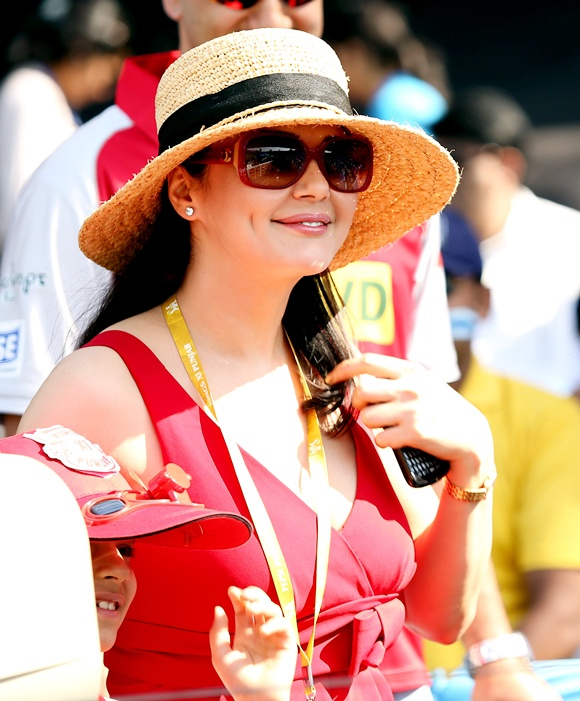 Preity Zinta, co-owner of Kings XI Punjab