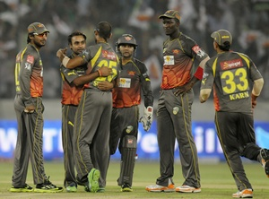 Amit Mishra celebrates