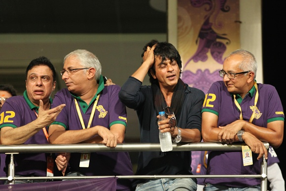 Shah Rukh Khan (second right)