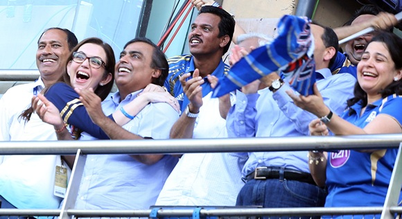 Nita Ambani hugs husband Mukesh