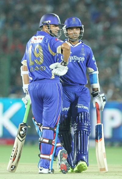 Ajinkya Rahane with Rahul Dravid