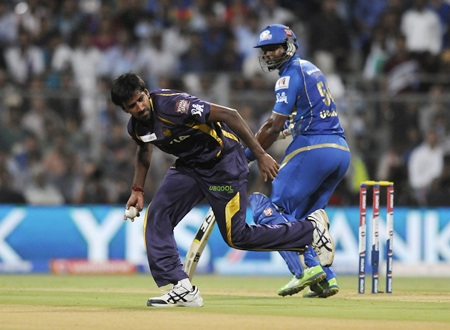 Balaji fields off his own bowling