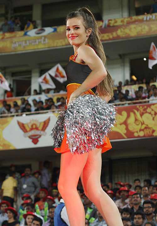 IPL: Cheerleaders turn on the heat in Hyderabad