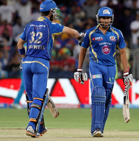 Glenn Maxwell with Rohit Sharma