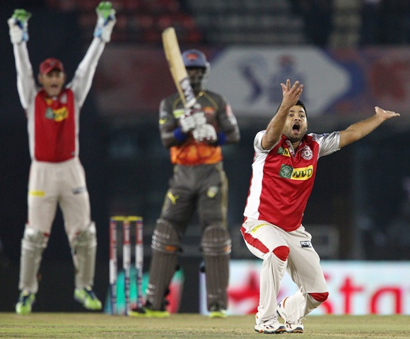Piyush Chawla celebrates