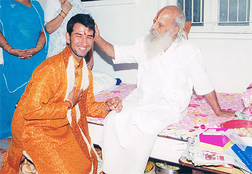 Cheteshwar Pujara's father believes that spiritual guru Hariprasadji Maharaj has truly blessed his son since his birth