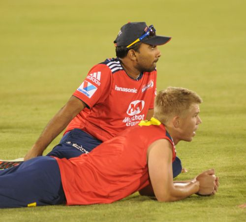 David Warner and Mahela Jayawardene