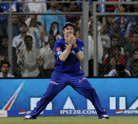 Shane Watson catches Rohit Sharma