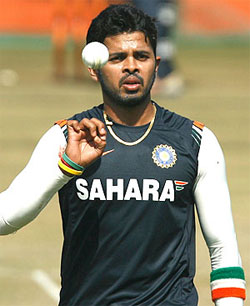 Rediff Cricket - Indian cricket - Sreesanth, two other RR players held over spot-fixing