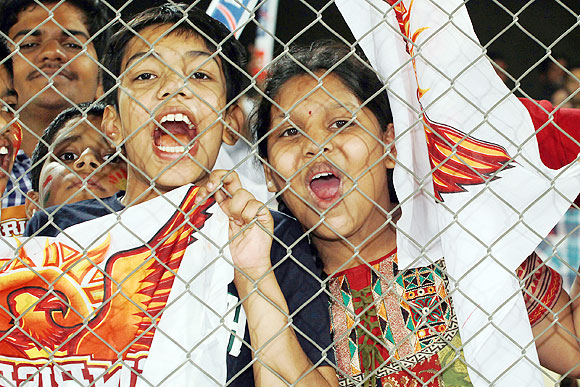 Sunrisers Hyderabad's young fans at the match