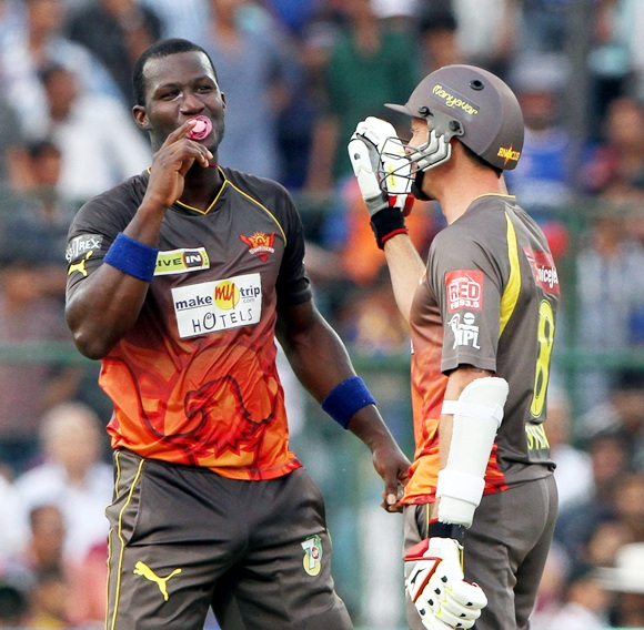 Rediff Cricket - Indian cricket - PHOTOS: Wicket ways... wild celebrations at the IPL