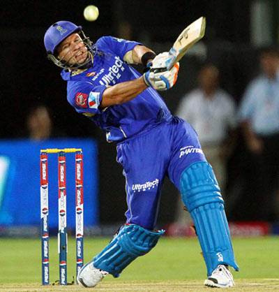 Rediff Cricket - Indian cricket - Hodge powers Rajasthan to victory against Hyderabad