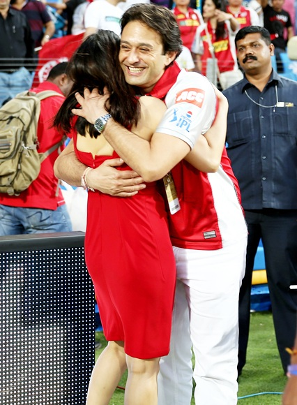 Preity Zinta and former boyfriend Ness Wadia in happier times