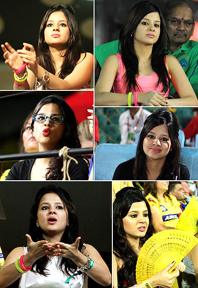 Rediff Cricket - Indian cricket - PHOTOS: Sakshi leads sexy desi WAGS IPL race