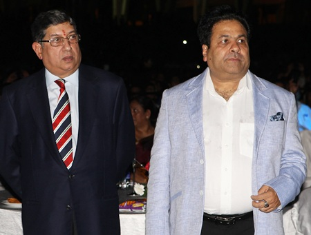 Srinivasan and IPl chairman Rajiv Shukla