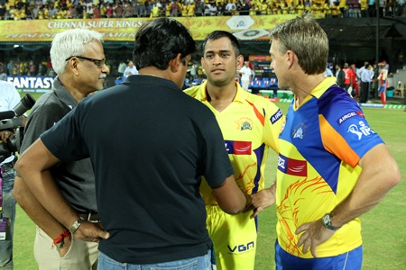 Gurunath Meiyappan speaks with M S Dhoni