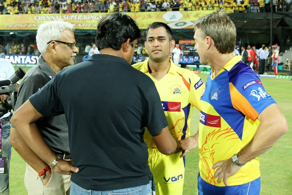Gurunath Meiyappan with CSK think-tank