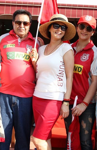 Preity Zinta, the co-owner of Kings XI Punjab