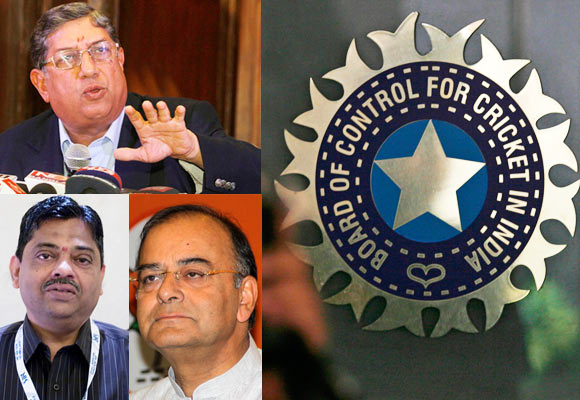 N Srinivasan and the men who matter in the BCCI