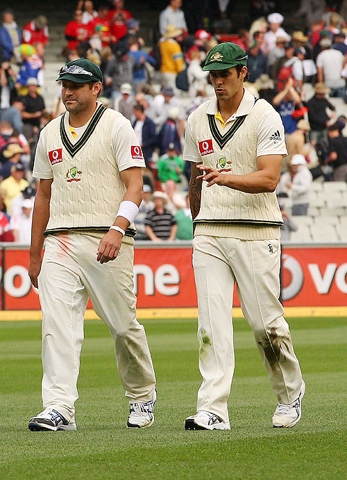 Ryan Harris with Mitchell Johnson
