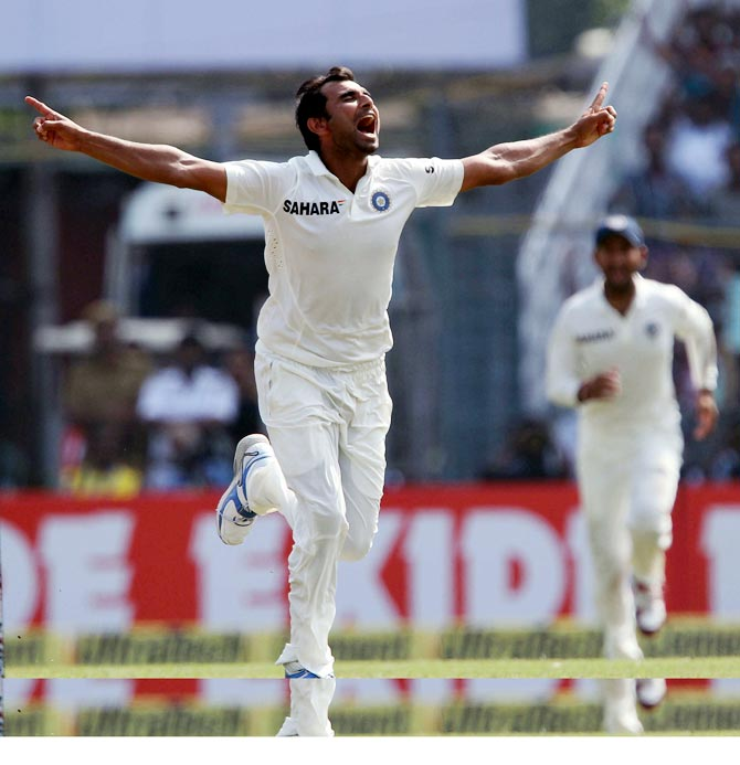 Rediff Cricket - Indian cricket - Day 3: Shami, Yadav pile on misery for West Indies