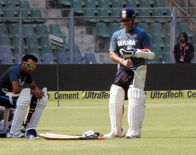 PHOTOS: Sachin Tendulkar in the nets...one last time!