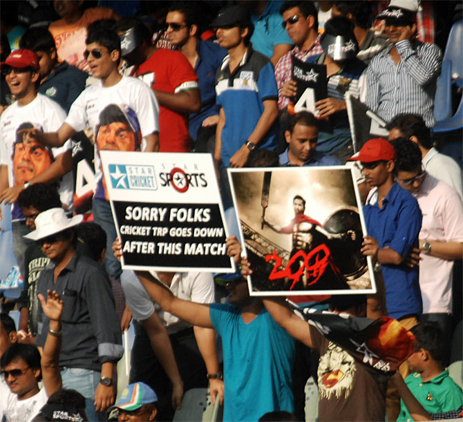 Fans at the Wankhede stadium