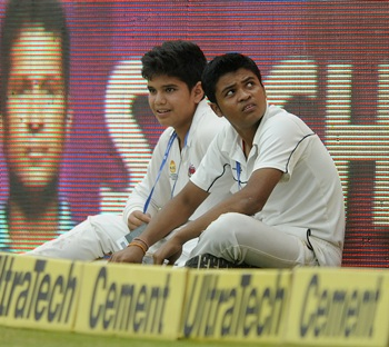Tendulkar junior a ball boy at Wankhede