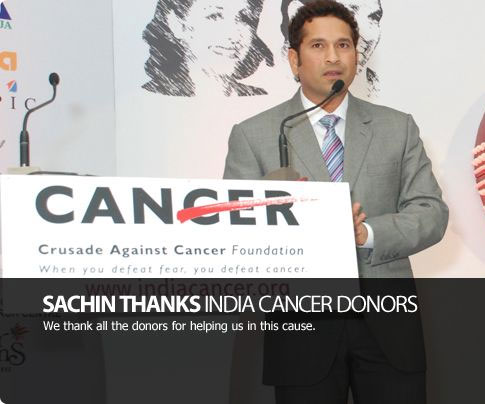 Anjali and Sachin Tendulkar support the Crusade Against Cancer Foundation and raise money for children with cancer, who cannot afford expensive treatment.