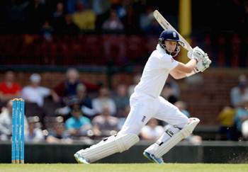 Joe Root of England bats during day three of the tour match between CA Invitational XI and England at the Sydney Cricket Ground
