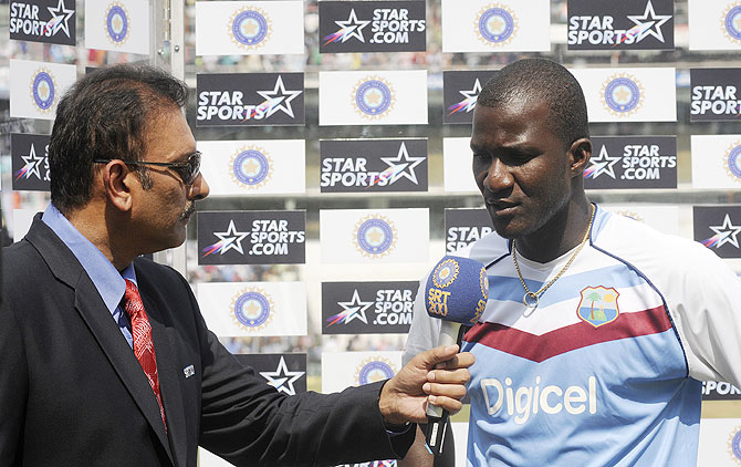 Darren Sammy gives an interview to Ravi Shastri