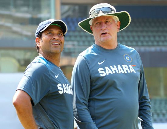 Sachin Tendulkar and Duncan Fletcher