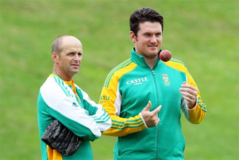 Graeme Smith with former coach Gary Kirsten