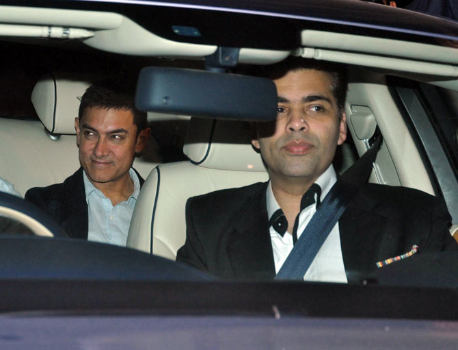 Aamir Khan with Karan Johar