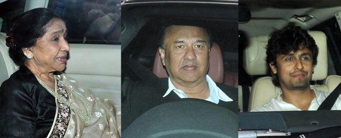 Asha Bhosle, Anu Malik and Sonu Nigam
