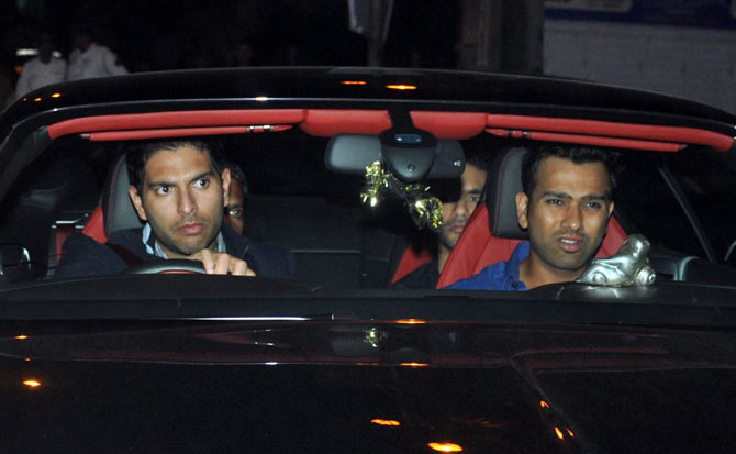 Yuvraj Singh arrived and Rohit Sharma