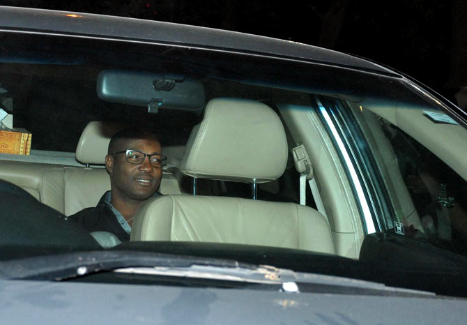 Brian Lara looks dapper in a pair of geeky glasses