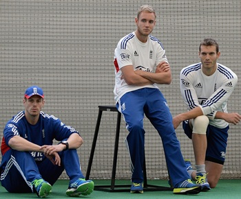 Boyd Rankin, Stuart Broad and Chris Tremlett