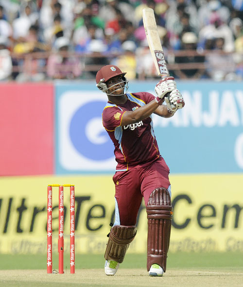 Johnson Charles of West Indies bats