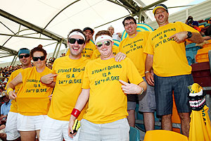 Australian cricket fans at the Gabba