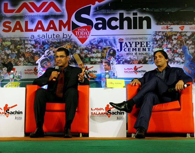 Waqar Younis and Shoaib Akhtar