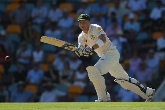 Brad Haddin plays one through the on side