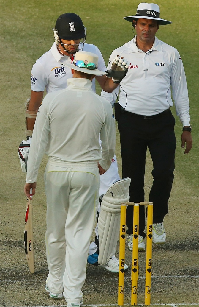 James Anderson and Michael Clarke involved in a needless exchange of words