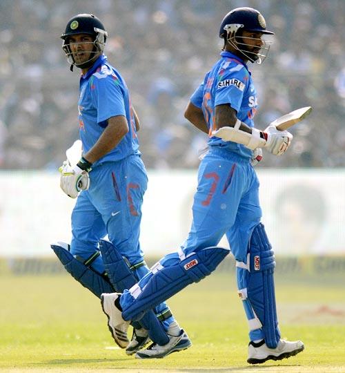 Yuvraj Singh and Shikhar Dhawan