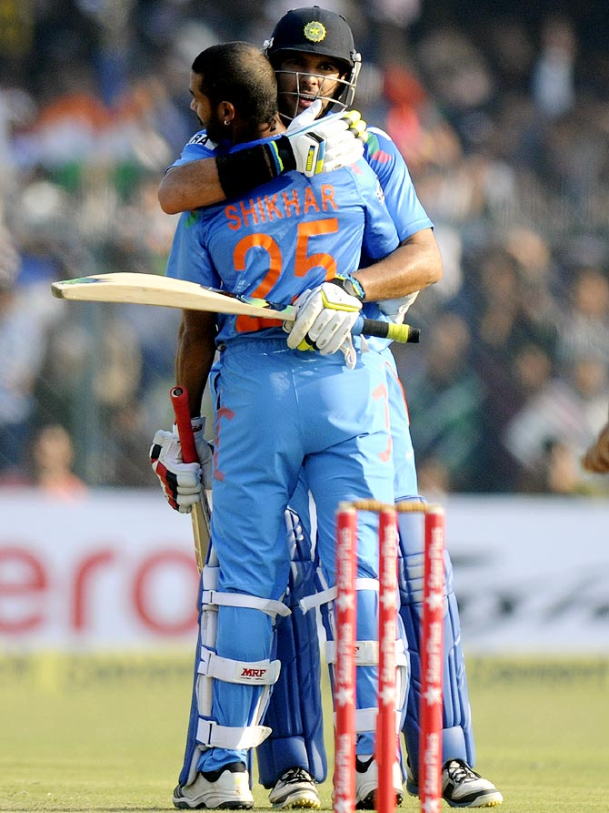 Yuvraj Singh with Shikhar Dhawan