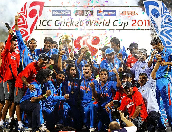 India celebrate after winning the 2011 World Cup