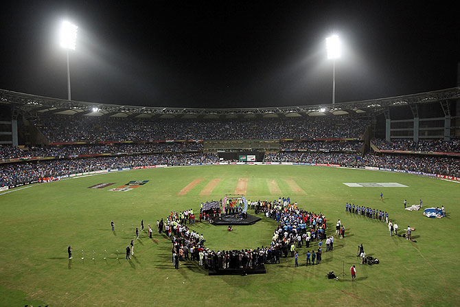 The Wankhede stadium in Mumbai
