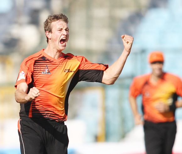 Joel Paris of Perth Scorchers celebrates