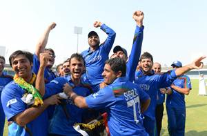 The jubilant Afghanistan team