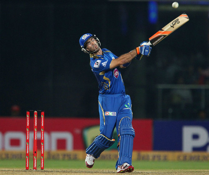 Glen Maxwell of Mumbai Indians hits out
